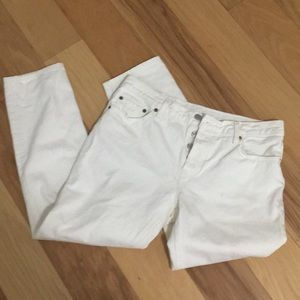 Levi's White 501 Button Fly Jeans Size 29